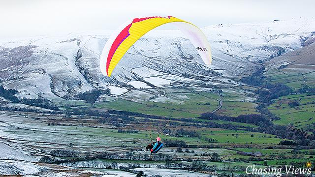 Paraglider over Edale