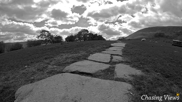 Thick stone path to Kinder Scout