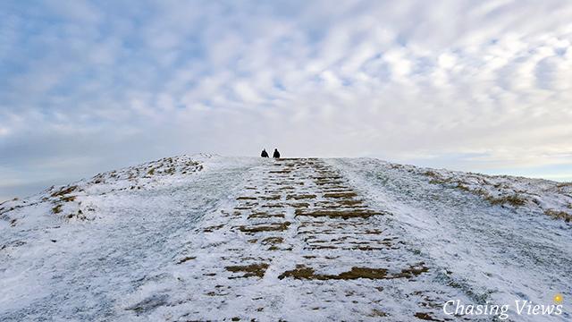 Last stretch towards Mam Tor summit