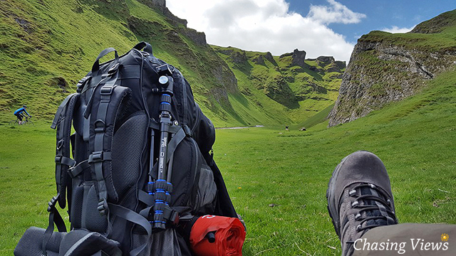 Taking in the view of Winnats Pass