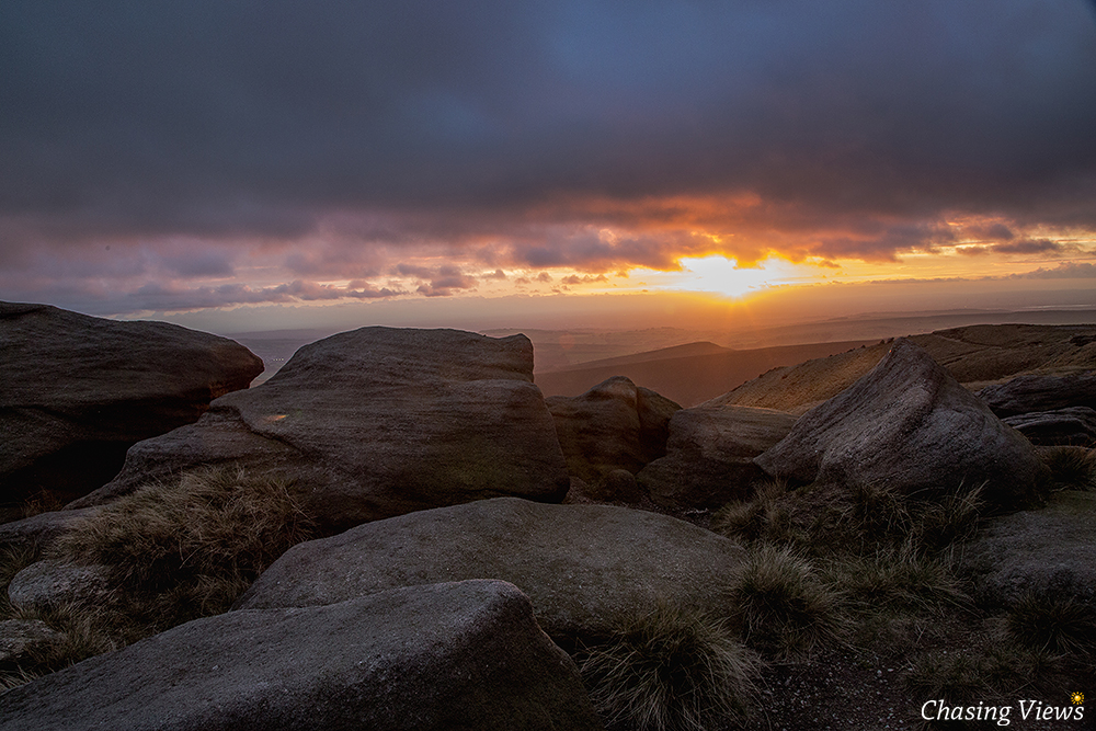 Early Sunset from Kinder Scout