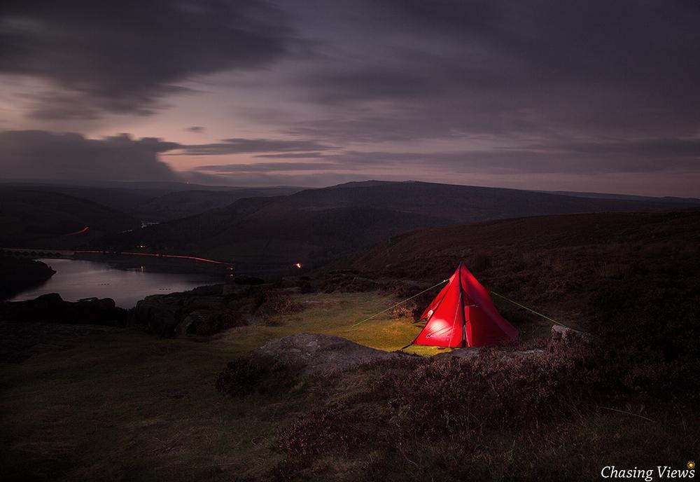 Wild Camping on Bamford Edge