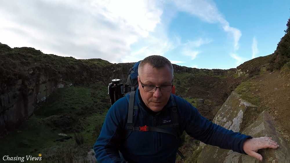 Climbing on Bamford Edge