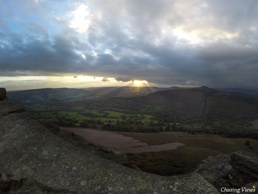 Sun setting over Hope Valley