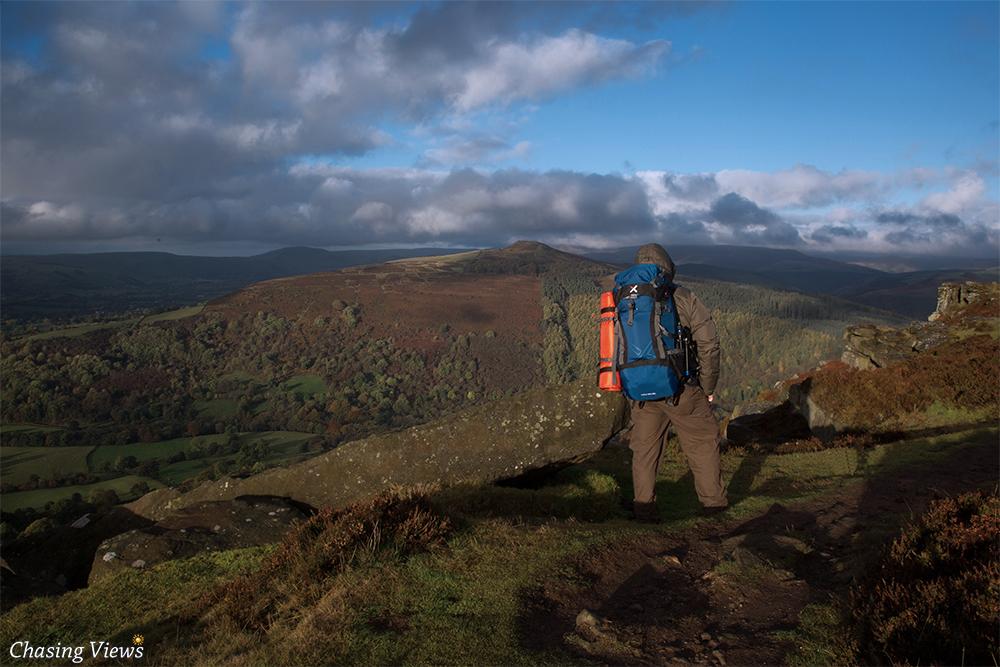 Hiking on Bamford Edge Path