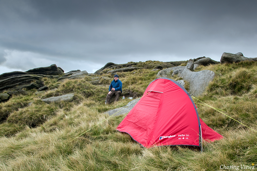 Wild Camp on Kinder Scout
