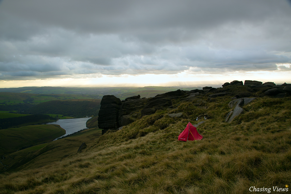 Base camp on Kinder Scout