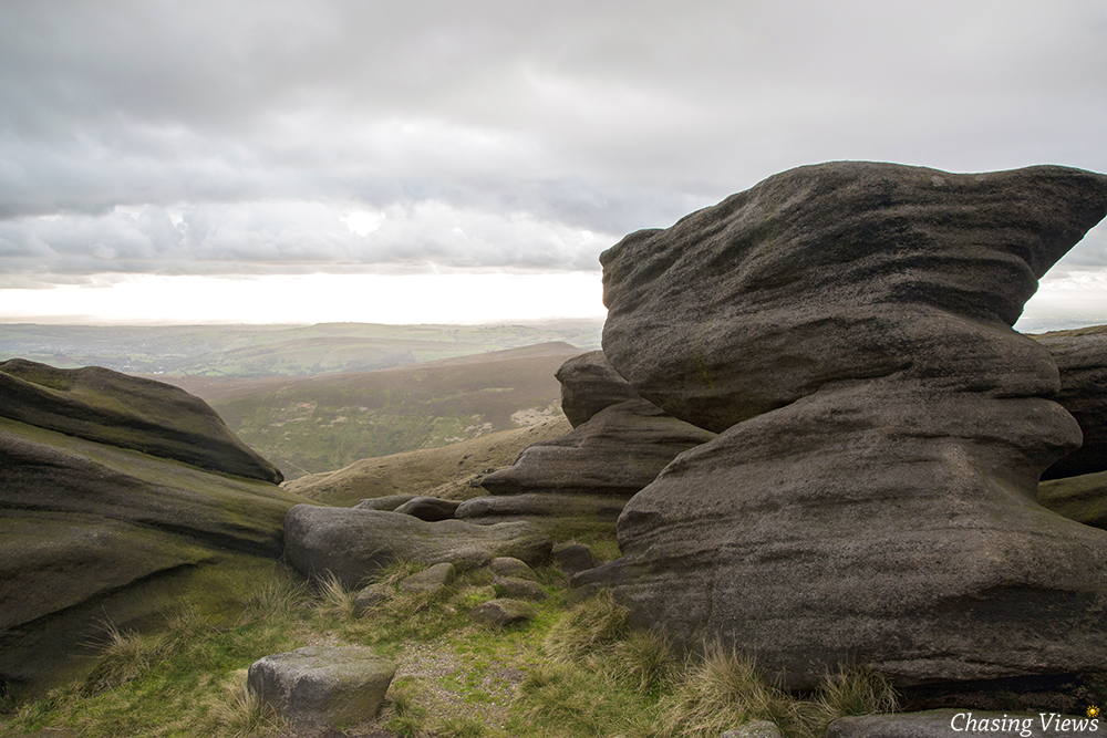 Rock formation on Kinder Scout