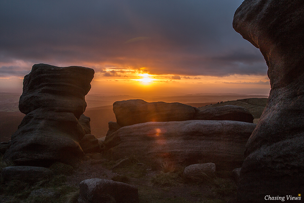 Sunset from Kinder Scout