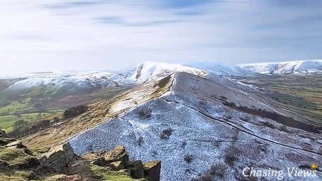 View from Back Tor towards Mam Tor
