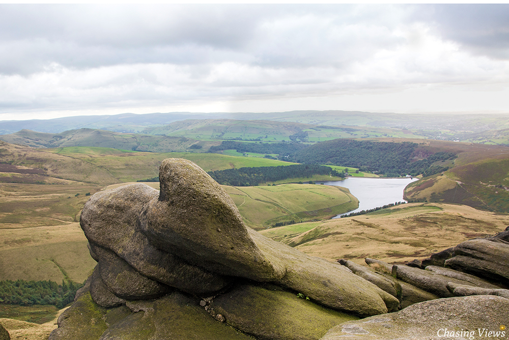 View of Kinder Reservoir from Kinder Scout