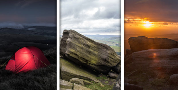 Walk & Wild Camping on Kinder Scout