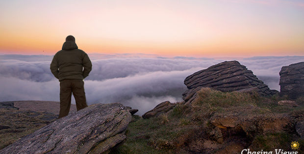 Wild camping on kinder scout in Peak District